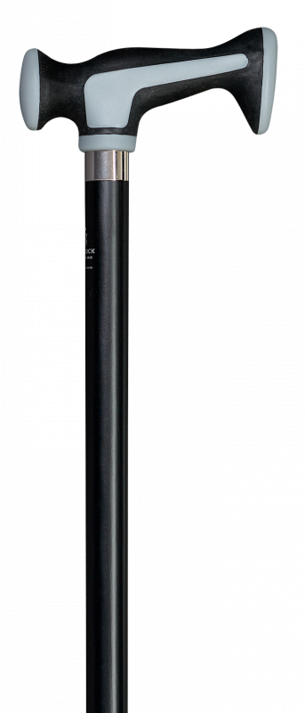 Aluminium stok Super Soft ergogrip Escort grijs